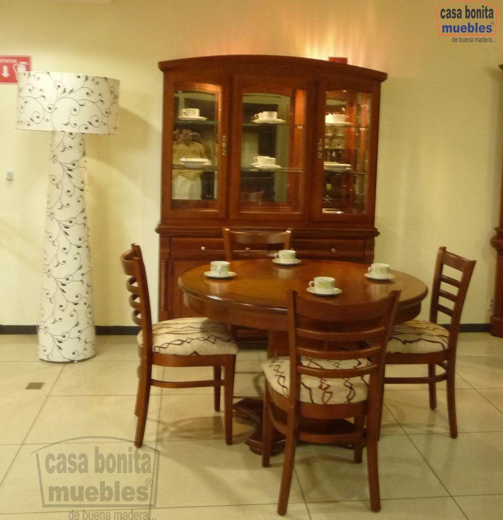 Comedor Praga Con 4 Sillas Winchester Y Vitrina Tiffany Casa