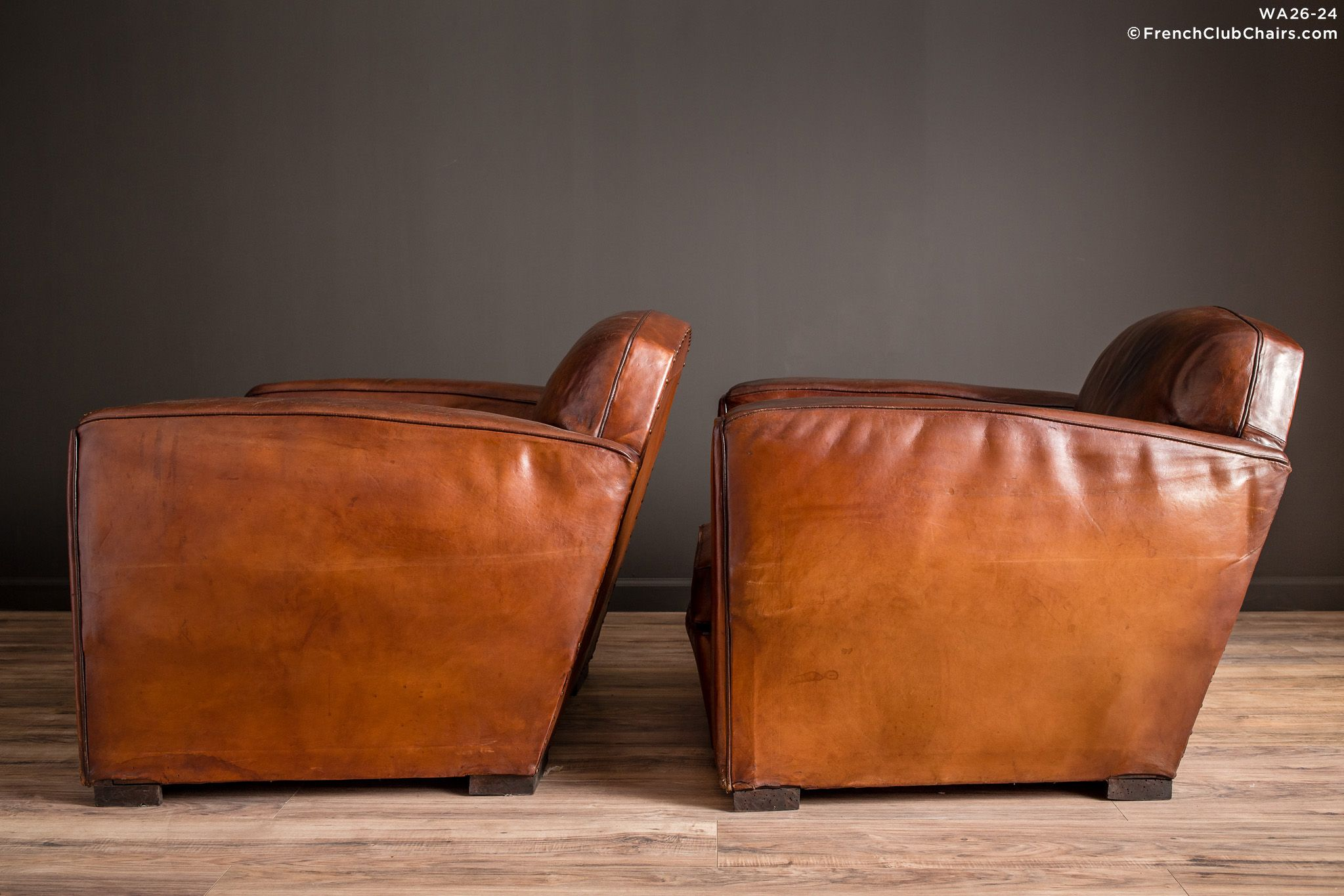 Frenchclubchairscom $10,50000 Jean Moulin 1930S Lounge Giant Pair Of Leather