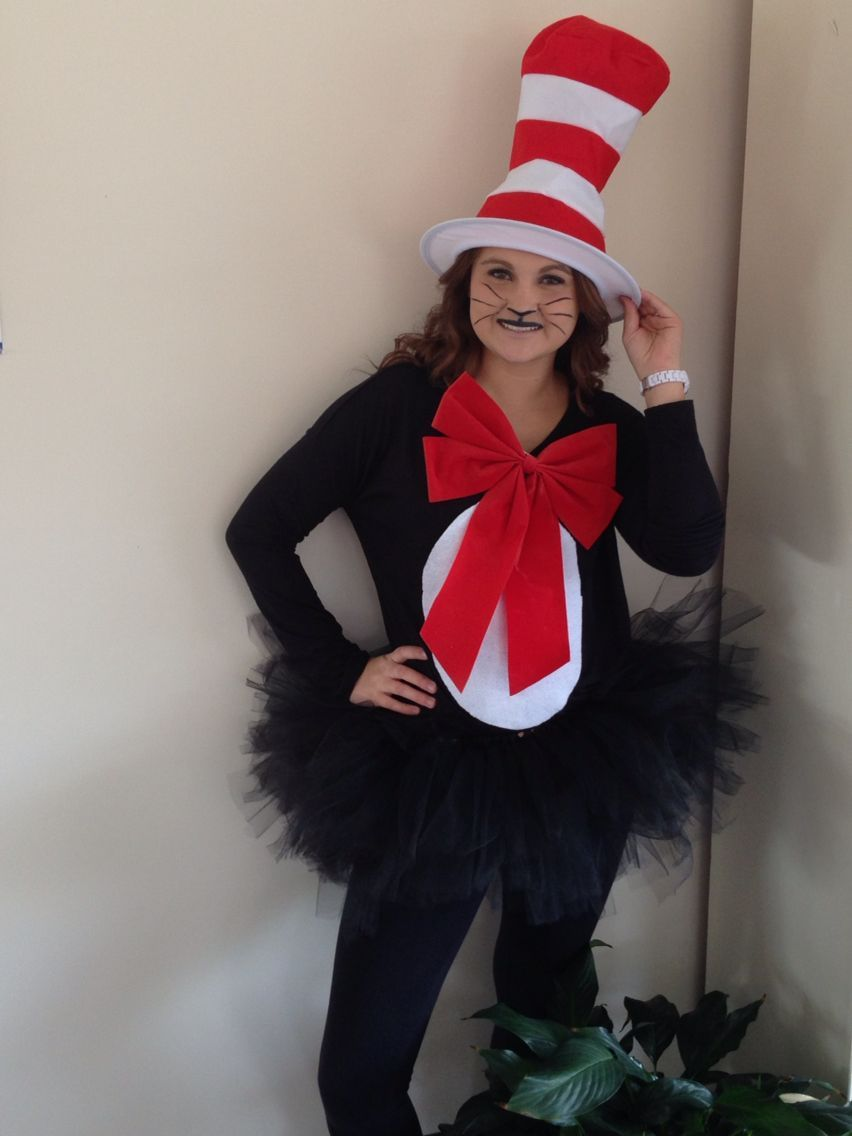 Cat In The Hat Costume For 11 Easy Diy Easycatsdiy Halloween Costumes Women Teacher Halloween Costumes Dr Seuss Costumes