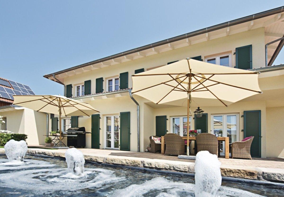 Stadtvilla Landhausstil landhaus villa mediterran mit pool weberhaus fertighaus stadtvilla