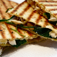 quesadillas spinazie geitenkaas