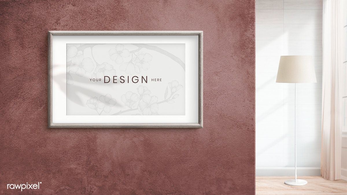 Download Premium Psd Of Wooden Frame Mockup On A Brown Wall 894284 Frame Mockups Frame Design Brown Walls