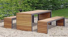 Merveilleux Modern Picnic Table By Westeifel Werke #contemporary