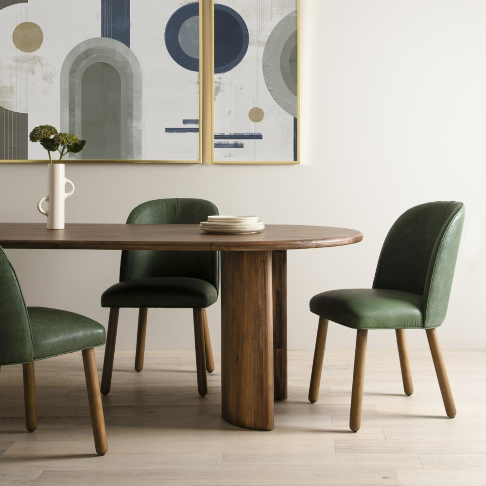 Paden Solid Wood Oval Dining Table 94 Oval Table Dining Leather Dining Chairs Dining Table