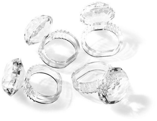 Prodyne AN-60 Jubilee Acrylic Diamond Napkin Rings, Set of 4