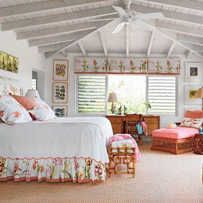 Tour a Gorgeous Retro-Caribbean Beach House Bedrooms, Beach