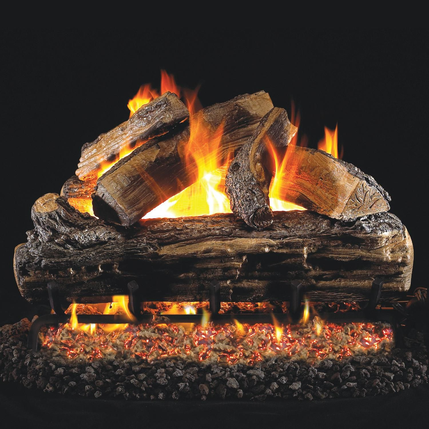 Peterson Real Fyre 24 Inch Split Oak Gas Log Set With Vented