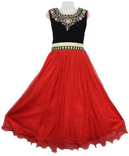 Red And Black Colour Girls Party Wear Long Frock Vasundhara Fashions Indian Clothing Long Frocks Fashion Indian Outfits