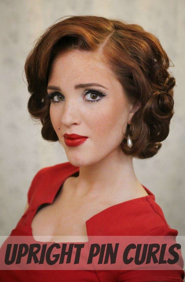 Upright Pin Curls - The Freckled Fox