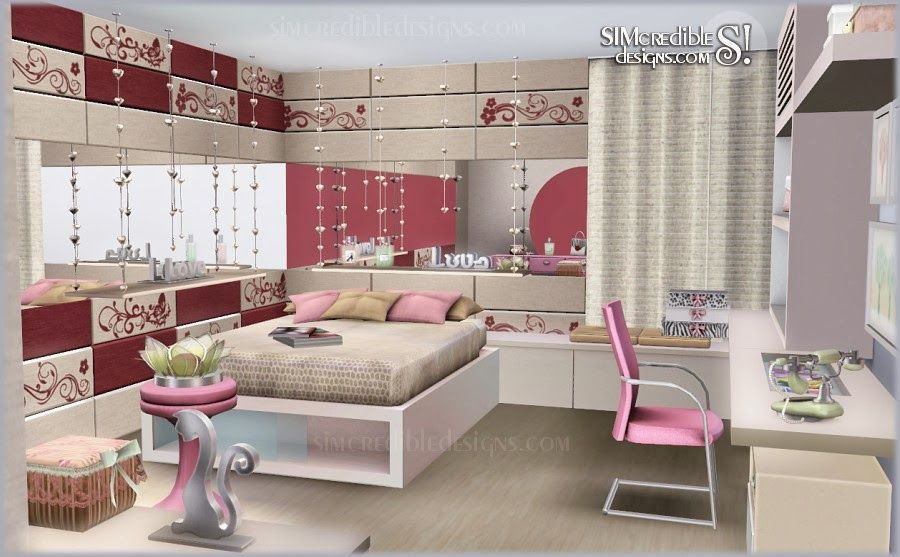 My sims 3 blog tutti frutti donation teen bedroom set for Bedroom designs sims 4