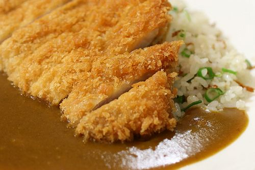 Katsu Curry    --- Curry Shop Shirakawa, Hirakata Osaka, Japan ---    Katsu Curry = Japanese curry and rice with pork cutlet.   This is a really fat food... Regrettably, it's too delicious.