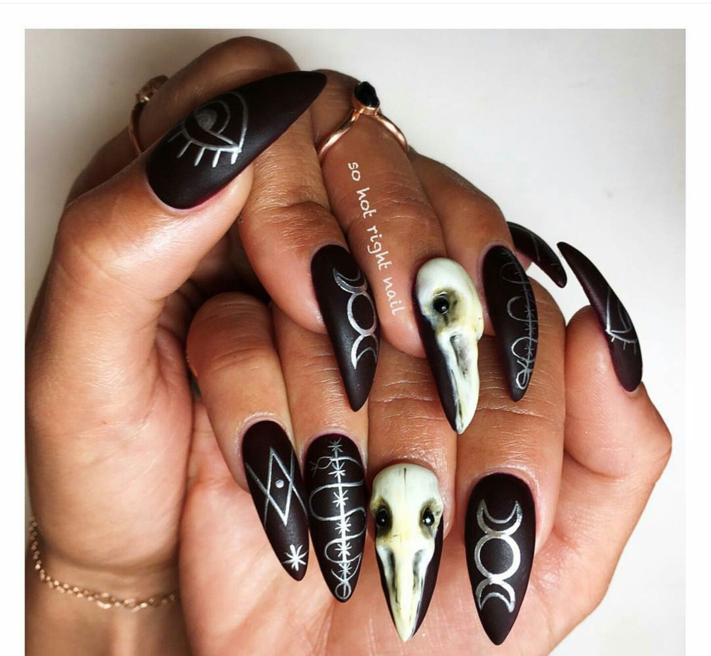 ╳ d e a t h g a s m ╳ | nail art | Pinterest | Makeup, Goth nails ...