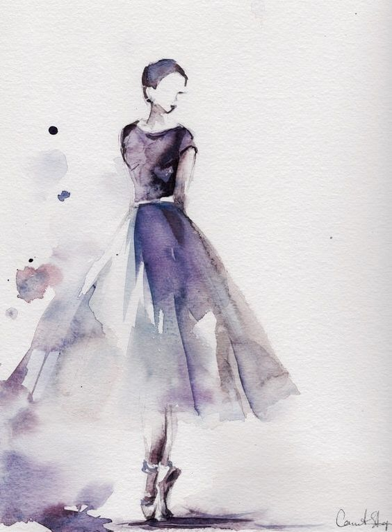 Simple Beautiful Watercolor Paintings Easy Ballet Painting