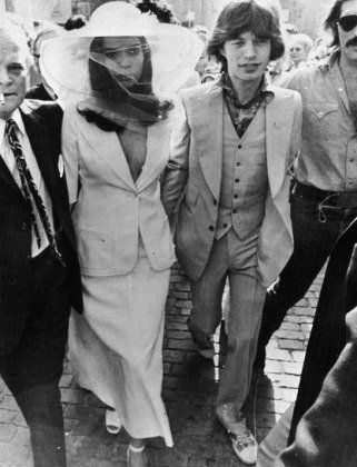 Bianca Pérez-Mora Macias: The Rocker Bride  Decked out in a YSL le smoking, Bianca cemented her place in history as one of the most unconventional-but absolutely