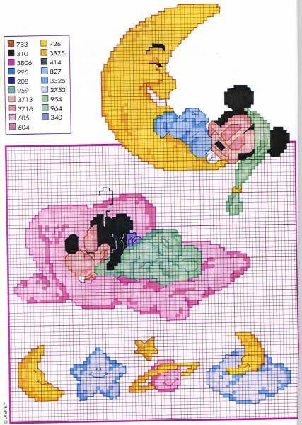 Baby disney pippo dorme punto croce for Disney punto croce schemi gratis