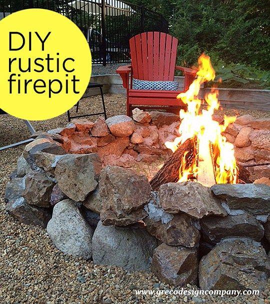 Diy Rustic Firepit Diy Fire Pit Backyard Fire Stone Fire Pit