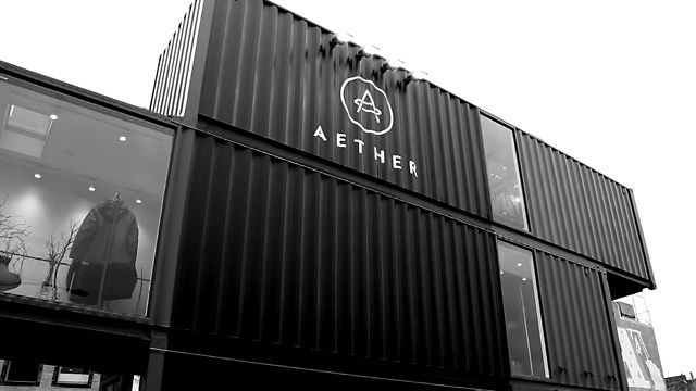 AETHERsf shipping container store, (construction) - Aether Apparel