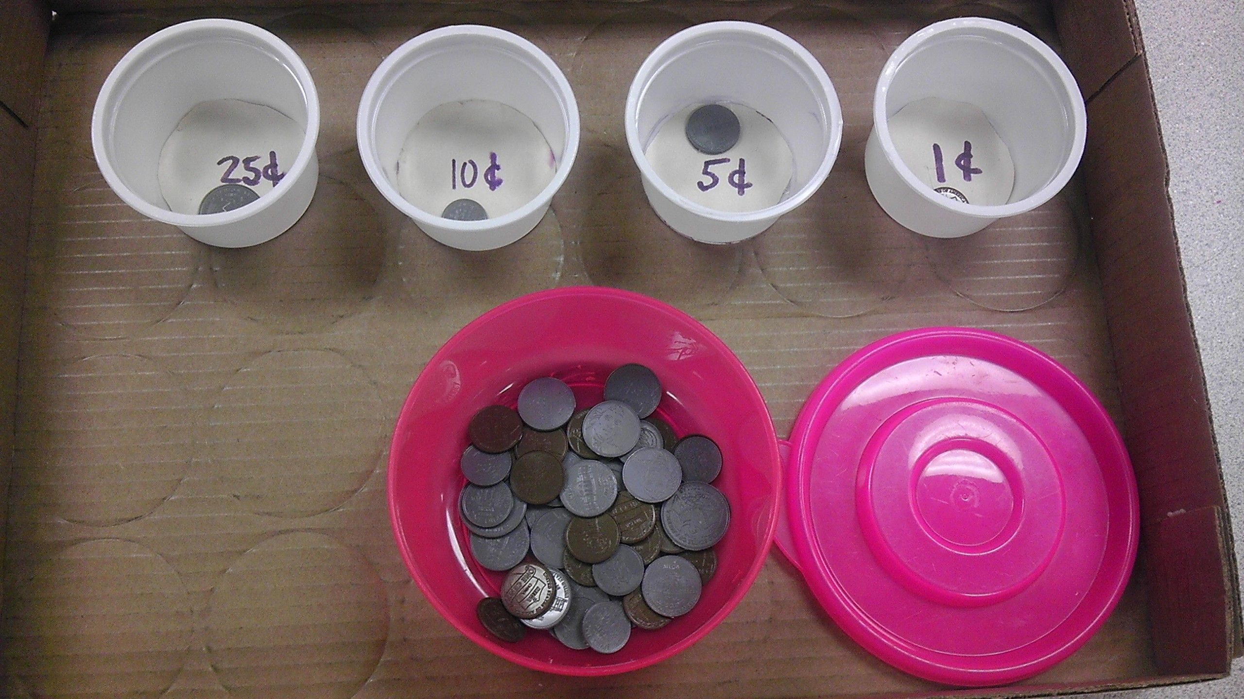 Coin Sorting Work Task