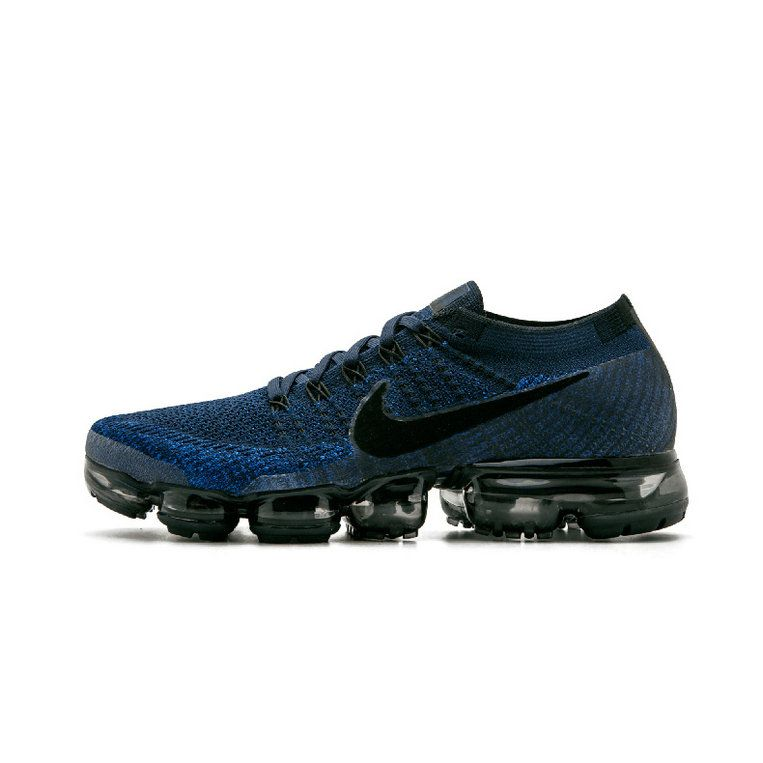 Nike Air VaporMax Lastest Nike Air VaporMax Flyknit 849558-400 Dark Blue  Black Shoe For
