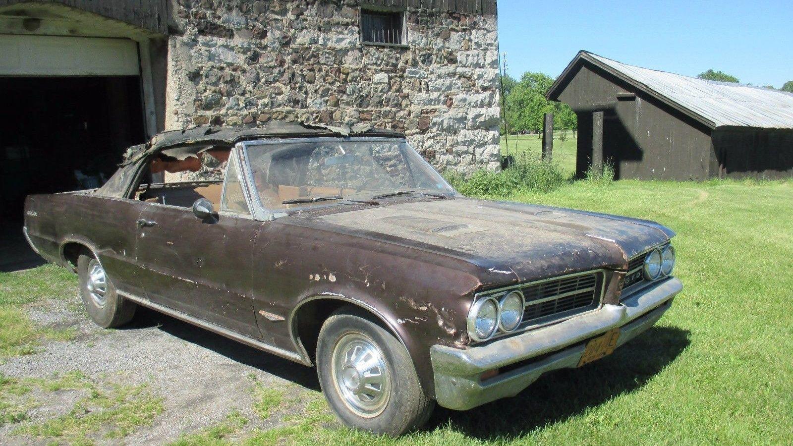Real Barn Find 1964 Gto Convertible With Bonus Parts Pontiac Gto