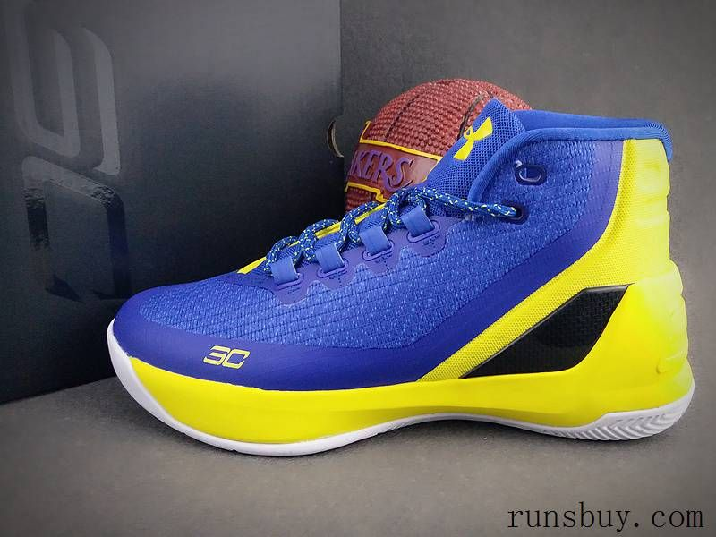 Under Armour Steven Curry 3 Blue Yellow