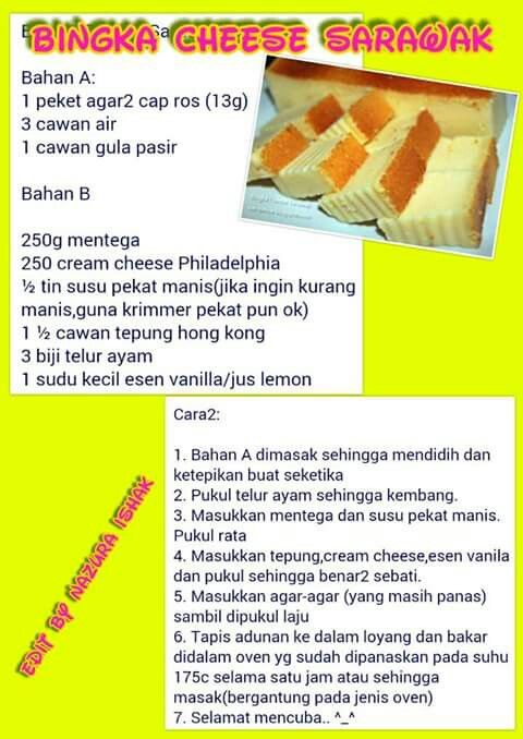 Bingka Cheese Serawak Non Bake Desserts Cake Recipes Yummy Cakes