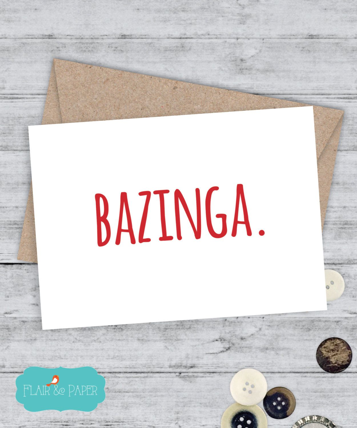 Boyfriend Card Bazinga Big Bang Theory Inspired Funny Birthday By FlairandPaper On Etsy