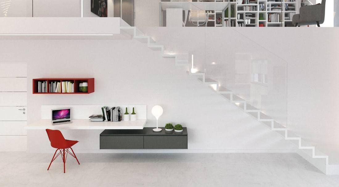 Composizioni soggiorno design ~ Composizione soggiorno con contenitori sospesi italian and design