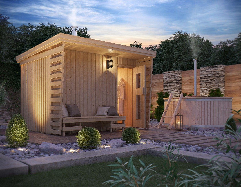 schöner wohnen mit der sauna im garten.   schöner wohnen mit holz