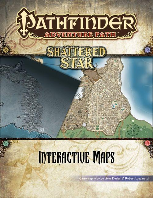 Pathfinder Adventure Path Shattered Star Interactive Maps Book