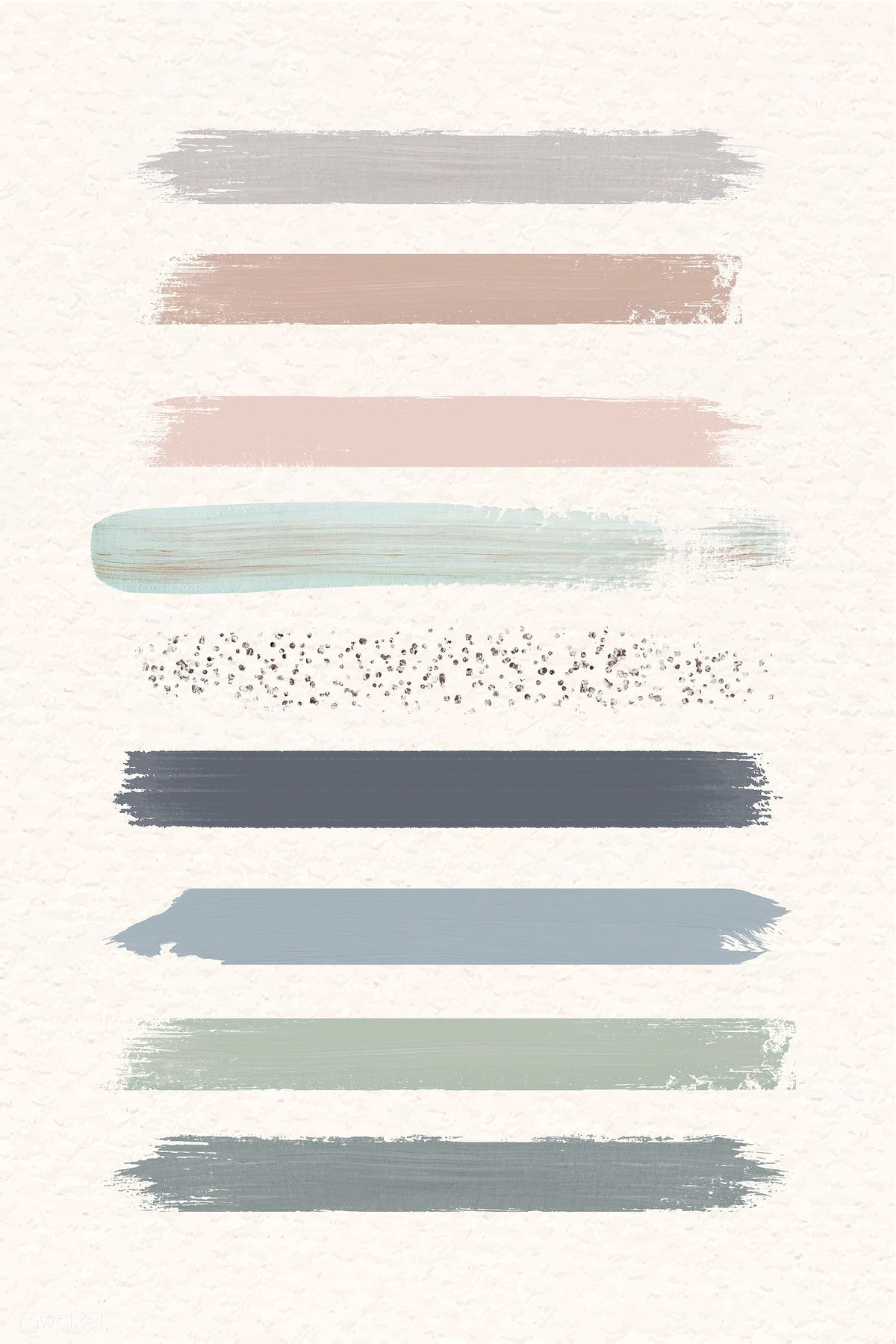 Pastel Brush Strokes Vector Collection Premium Image By Rawpixel Com Marinemynt In 2020 Brush Stroke Vector Abstract Brush Strokes