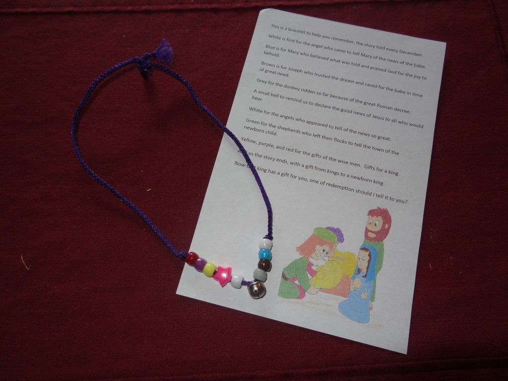Christmas Story Bracelet And Poem By