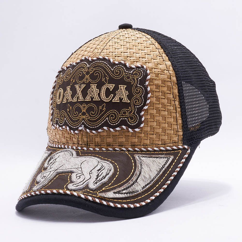 fc7e84f55d5 Gorra Charra Oaxaca Western Cowboy Snapback Mesh Hat Cap Mayoreo  MXOA-004   Made in Mexico Mesh Back(One Size Fits All) Faux leather bill Real Horse  Hair On ...