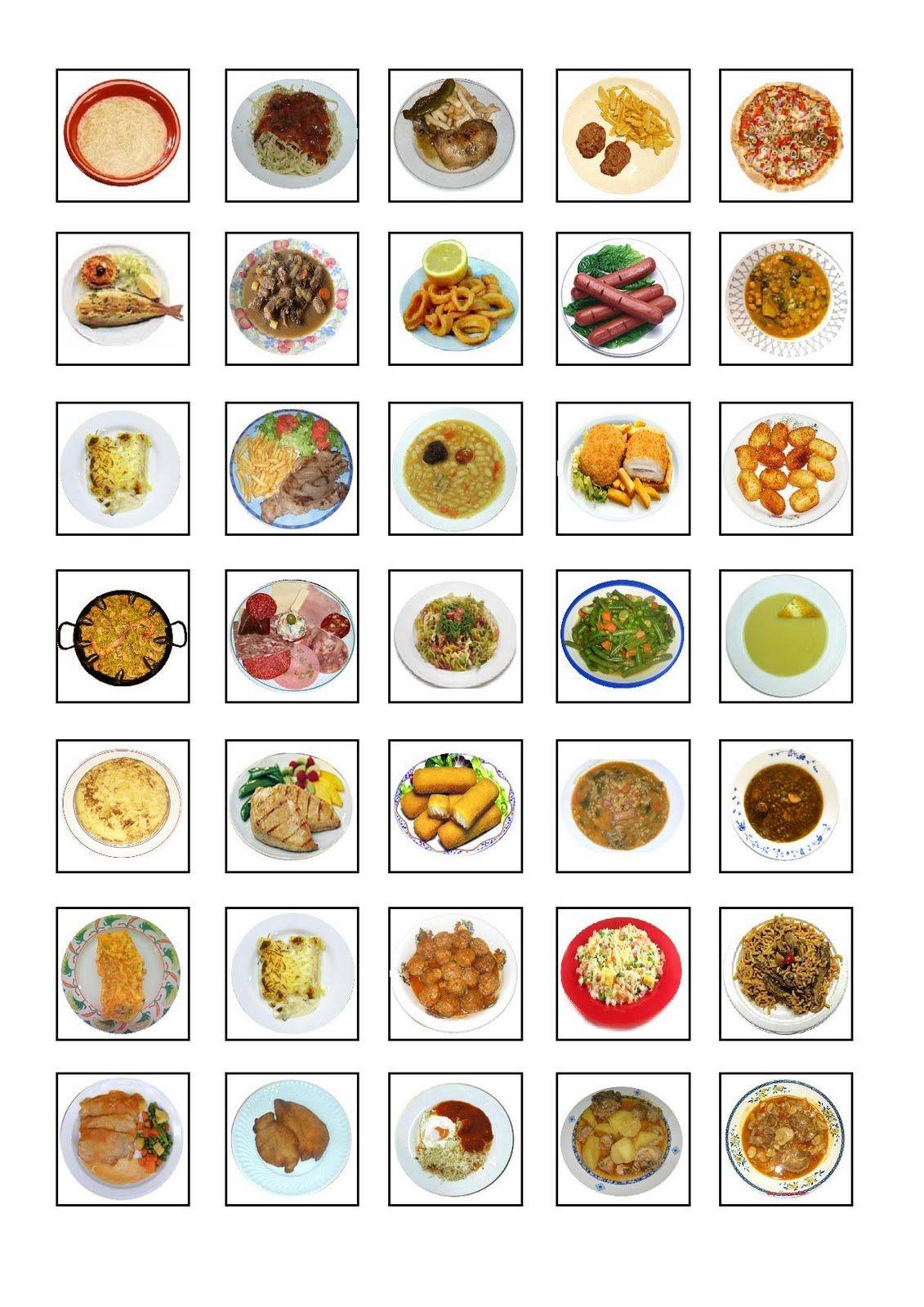 El registro del menú del comedor para 5. Tarjetas más pequeñitas ...