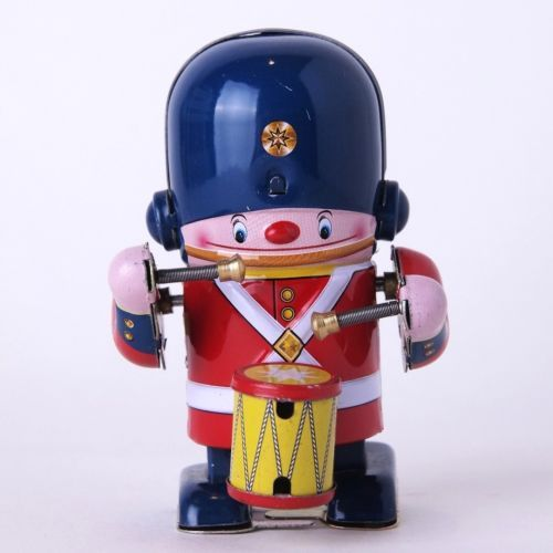 Japanese Tin Toys Little Soldier Drummer Friction Vintage Antique Asprund Japan