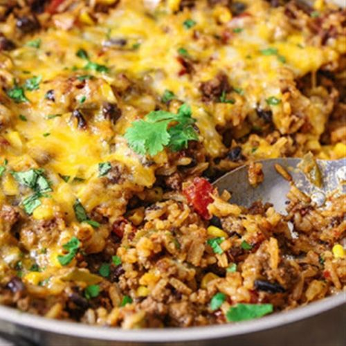 One Skillet Texas Rice