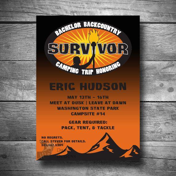 Bachelor camping invitation survivor camping trip invite printable bachelor camping invitation survivor camping by bigdawgdesigns 1200 stopboris Images