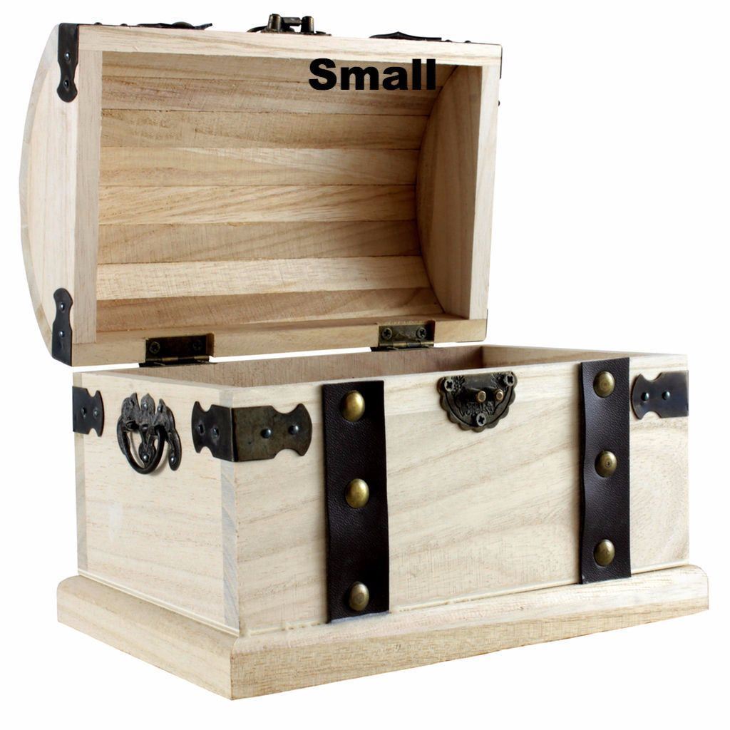 Treasure Chest Centerpiece Wood Boxes Diy Wood Box Unfinished Wood Boxes