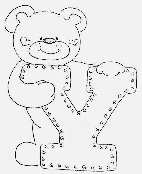 Artesanato e Cia : alfabeto para aplicação   alfabeti   Pinterest ...