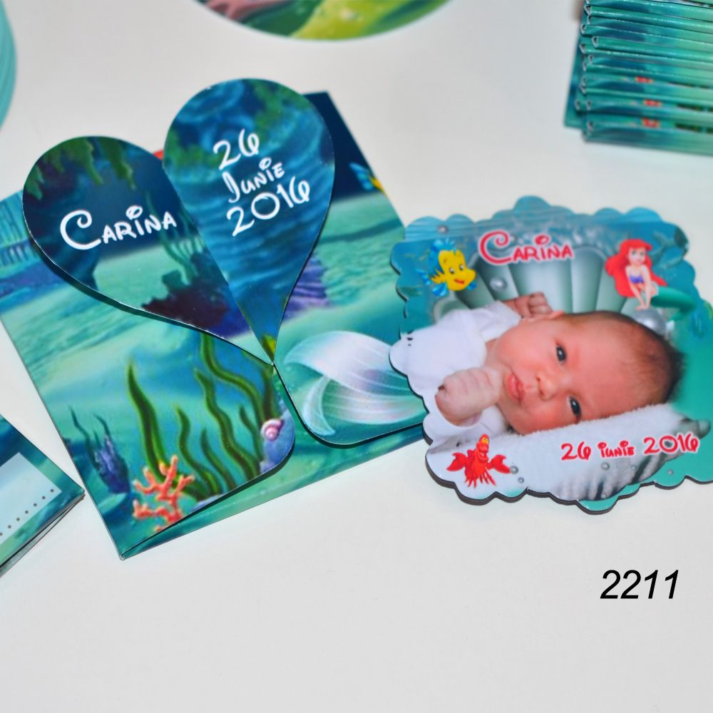 Invitatii Personalizate Cutiuta cu Magnet | Magneti marturii nunta botez