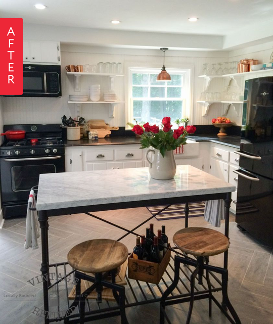 Before & After: Lumberjack Kitchen Gets Farmhouse Makeover