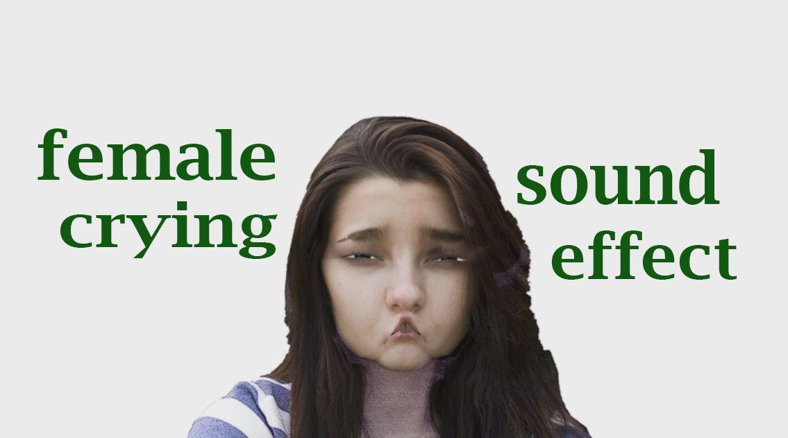 Female crying loudly sound effect animation