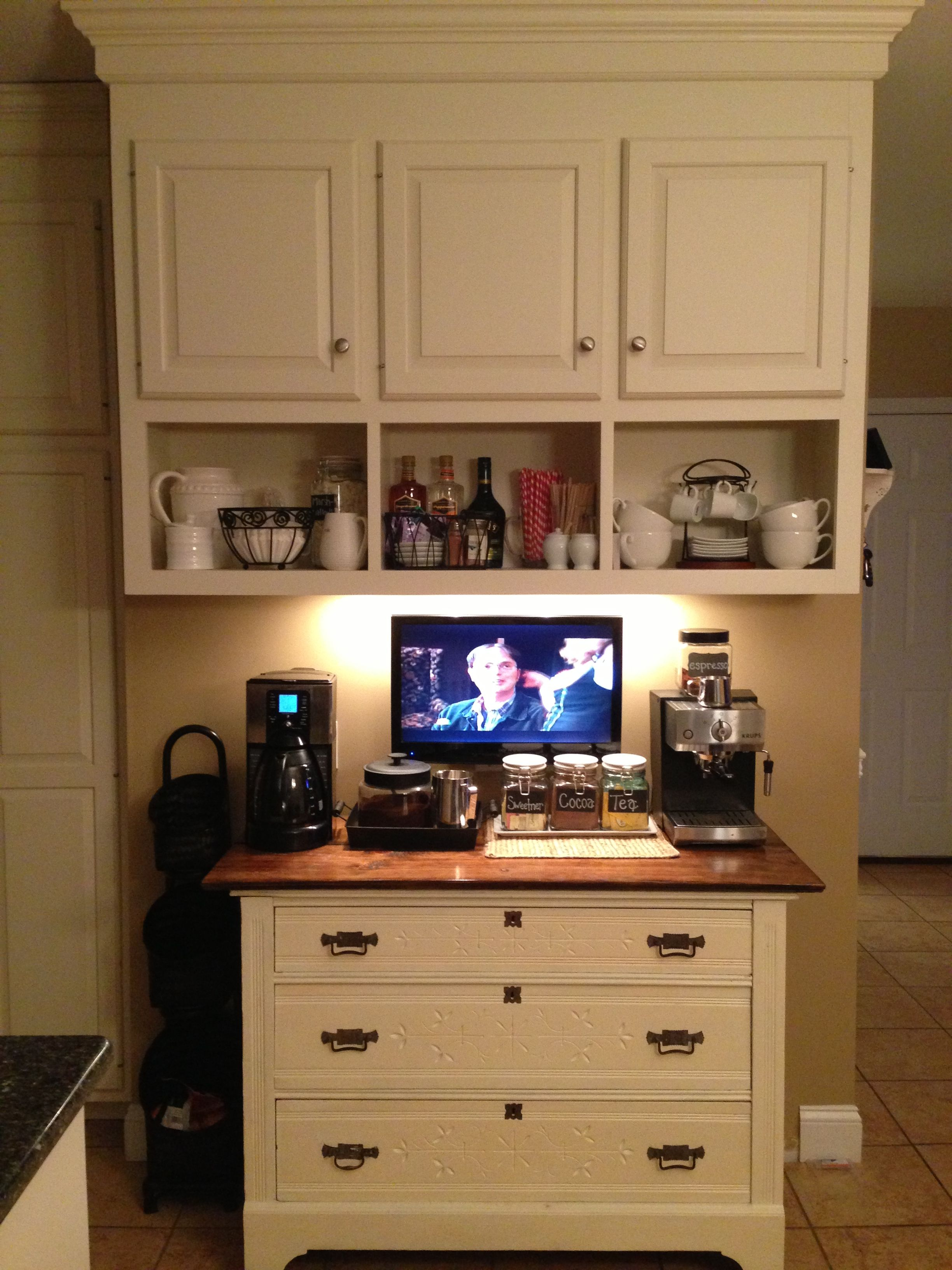 Coffee bar for the home food pinterest coffee and bar for Home bar station