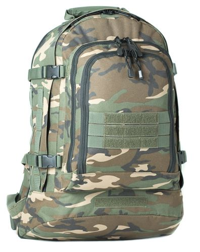 Woodland Camo 3 Day Stretch Backpack | Military Bags | Military ...