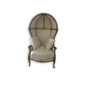 Tall Eggshell Chair