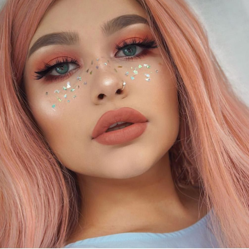 """""""Glitter freckles? Yay or Nay? ritaermin"""