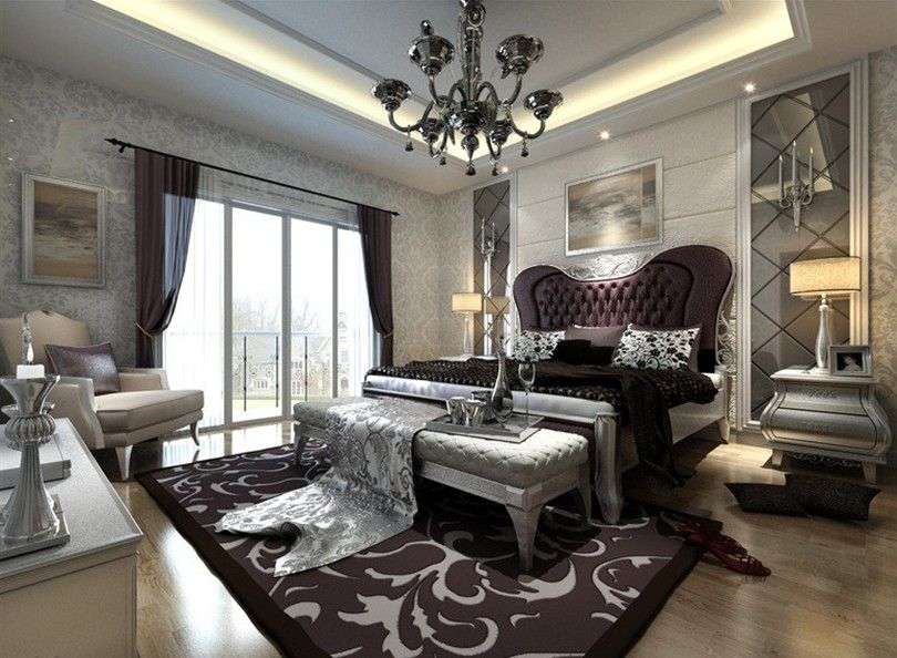 Genial European Style Luxury Bathrooms | European Style Silver Bedroom Interior  Design