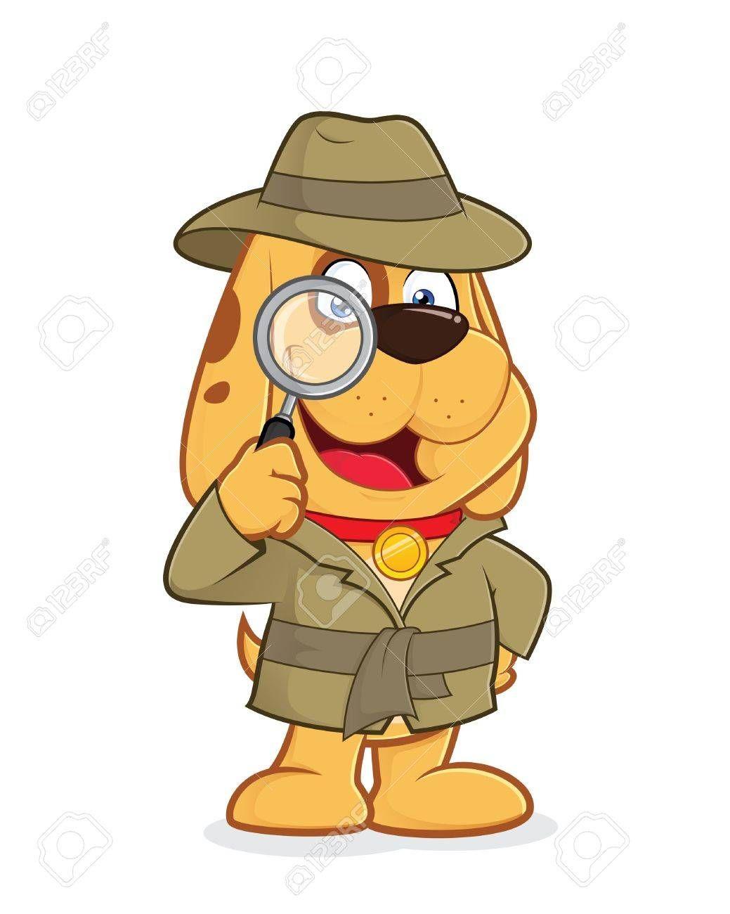 Detective Dog Aff Detective Dog Imagenes Animadas Detective Cuento Policial