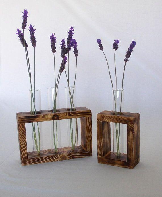 Flower glass tube holder test tubes custom made home for Test tube flower vase rack
