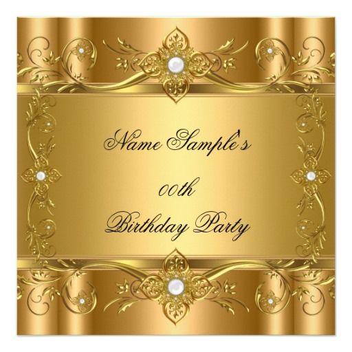 Elegant Gold Bronze Elite Birthday Party Invitation Zazzle Com